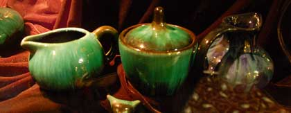 Samples of Blue Mountain pottery