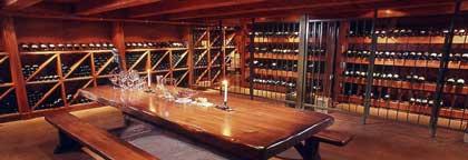 The wine cellar at Elmhirst's Resort on Rice Lake