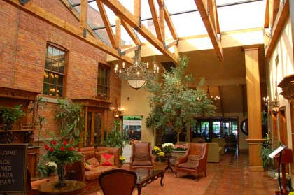 The lobby at The Pillar and Post Inn, Spa & Conference Centre