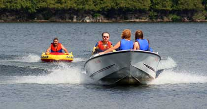 Waterskiing at Beauview Cottage Resort on Lake of Bays near Algonquin Park