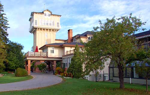 Main entrance to The Briars Resort, Spa and Conference Centre