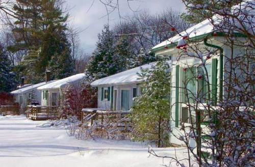 The cottages are much cozier in winter.