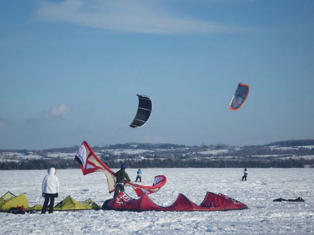 Elmhirst Resort's snow kite weekend will be held January 29-31, 2010.