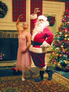 Dancing Santa at The Briars Resort