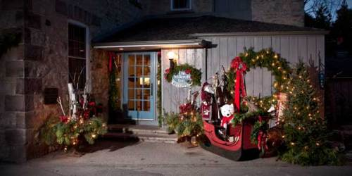 Christmas decorations at the Millcroft Inn and Spa