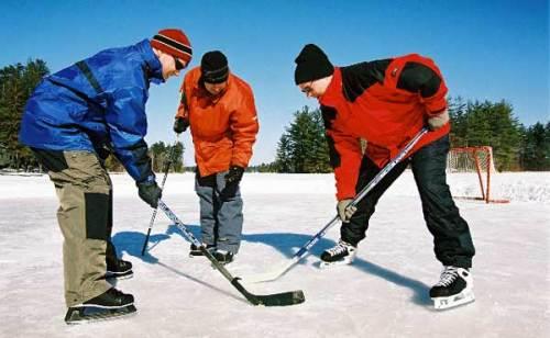 ice hockey at Pine Vista Resort