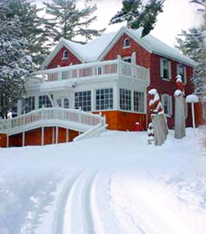 Shamrock Lodge in winter snow