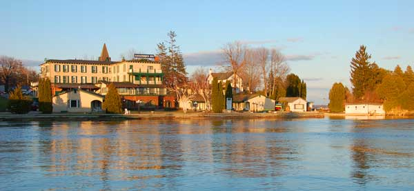 Gananoque Inn from the St. Lawrence River