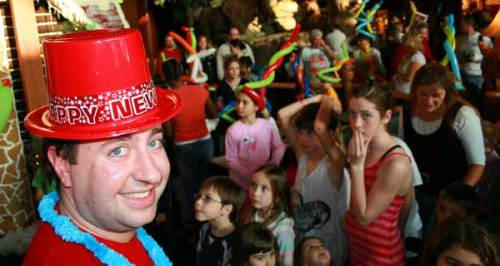 New Year's Eve party at Great Wolf Lodge
