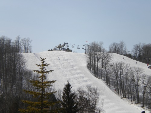 A look at some of the downhill ski runs at Horseshoe
