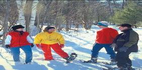 Snow Shoeing at Bayview Wildwood